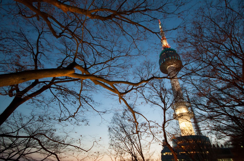 N Seoul Tower at dusk. (image: KobizMedia/ Korea Bizwire)