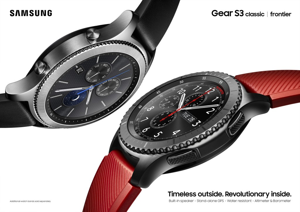 Besides its stylish design, the Gear S3 is equipped with IP68 standards for water resistance so consumers can get through their day, regardless of weather conditions. (image: Samsung Electronics)