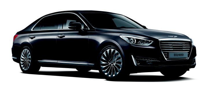 The Genesis G90, marketed in South Korea as the EQ900, is the sixth Hyundai vehicle to be named a finalist for the annual award. (image: Hyundai)