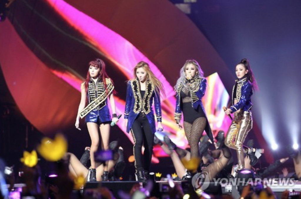 The announcement is the ultimate confirmation of the rumors that 2NE1 was doomed to disbandment any time. They began swirling in April when Gong left a month before her contract expired. (image: Yonhap)