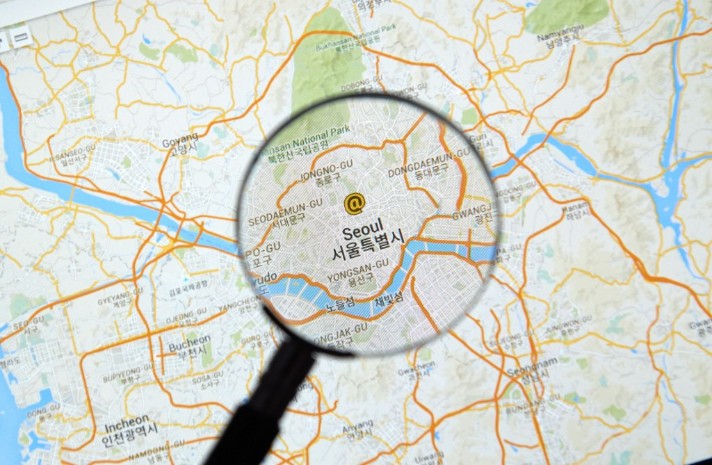 For Google, government-supplied mapping data is essential, especially for Google Maps, which is currently operated here with limited features at some 20 percent of its full capacity. (image: KobizMedia/ Korea Bizwire)