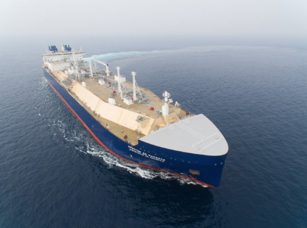 DSME built the world's first icebreaking liquid natural gas (LNG) carrier last year for Russia's state-run shipper Sovcomflot. (image: DSME)