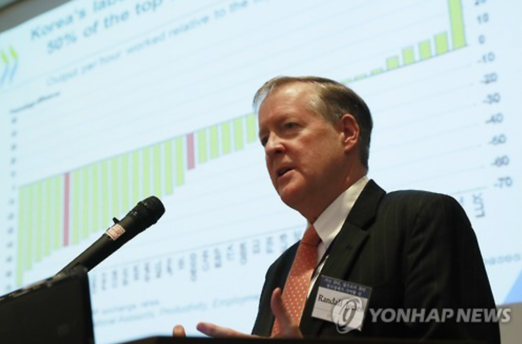 Randall Jones, head of the Japan/Korea desk at the OECD. (image: Yonhap)