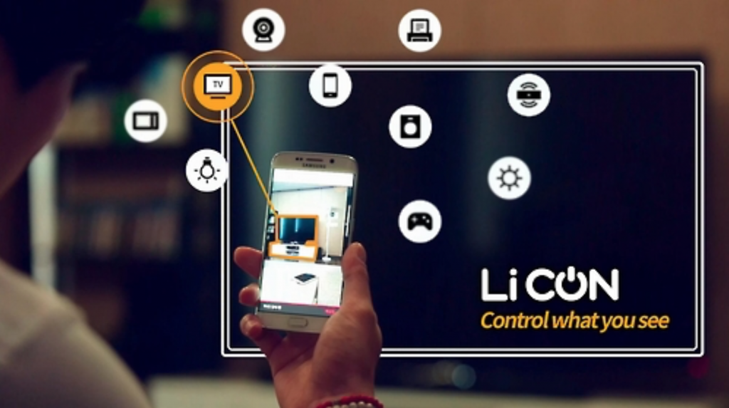 LiCon, a camera app that allows for the control of IoT devices upon taking a photo of them. (image: Samsung Electronics)