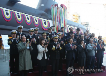 Korea Launches Eighth 1,800-ton Submarine