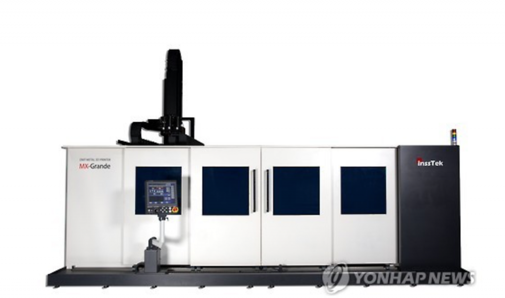 Insstek is one of a handful of companies around the world and the only in Asia that has the technical skills for what the industry calls directed energy deposition (DED) technology, which can produce metal products of various shapes. (image: Yonhap)
