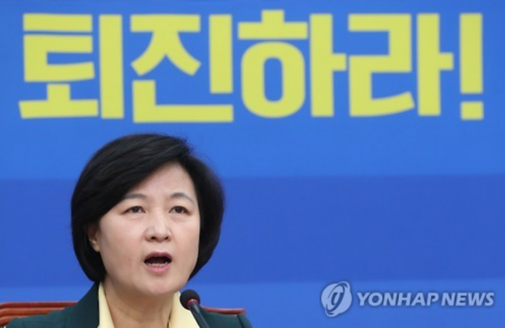 Choo Mi-ae, the leader of the main opposition Democratic Party, speaks during a meeting of senior party officials at the National Assembly in Seoul on Nov. 21, 2016. (image: Yonhap)