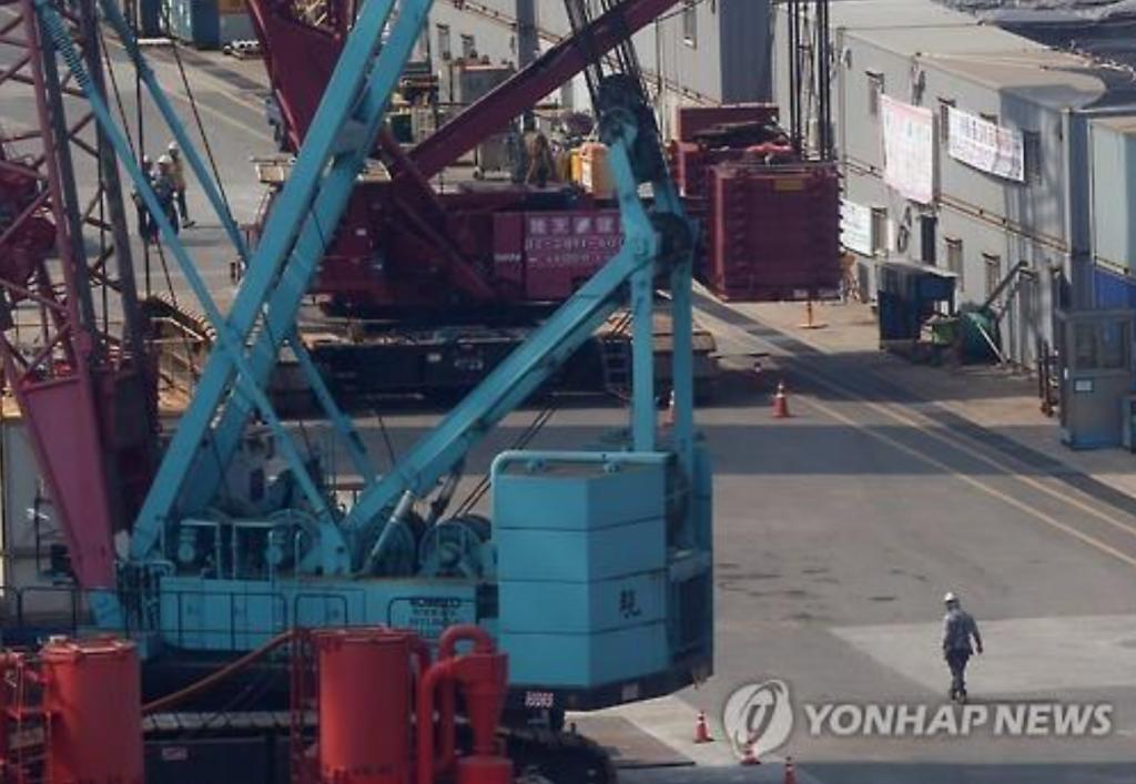Hyundai Heavy Industries shipyard in Ulsan. (image: Yonhap)