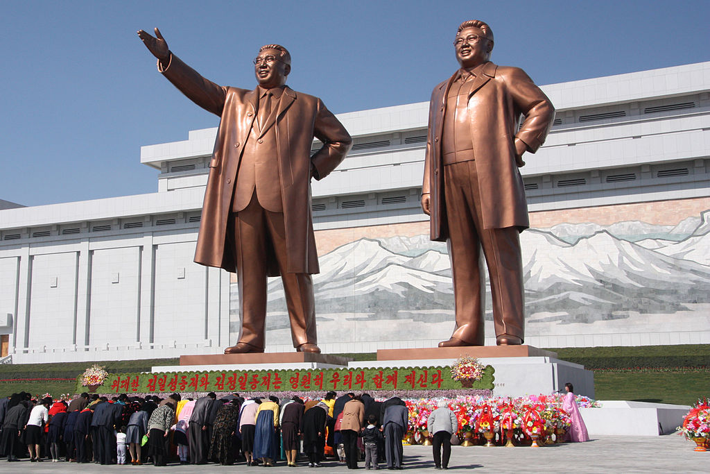 The Mansudae Art Studio has long been responsible for all the propaganda sculptures across the country, including the giant statues of late leaders Kim Il-sung and Kim Jong-il. (image: Wikimedia)