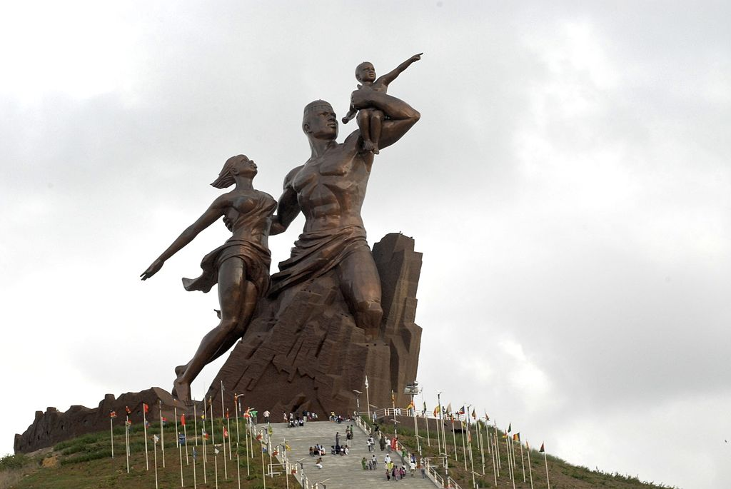 In 2010, North Korea built the Africa Renaissance Monument, a 49-meter high statue, in the outskirts of Dakar, Senegal. (image: Wikimedia)
