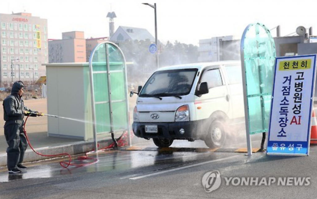 In a recent report, the Korea Economic Research Institute noted the country's financial loss could amount to 492 billion won (US$412.6 million) after 10 percent of the poultry population has been slaughtered due to the outbreak and spread of bird flu. (image: Yonhap)