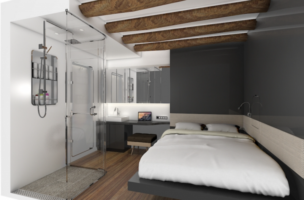 Each room will have its own independent air conditioning and heating system, noise proofing, a wireless Internet connection, and a Bluetooth speaker, and the facility's noise level will be kept below 40dB, which is equivalent to the typical noise level at a library. (image: Walkerhill)