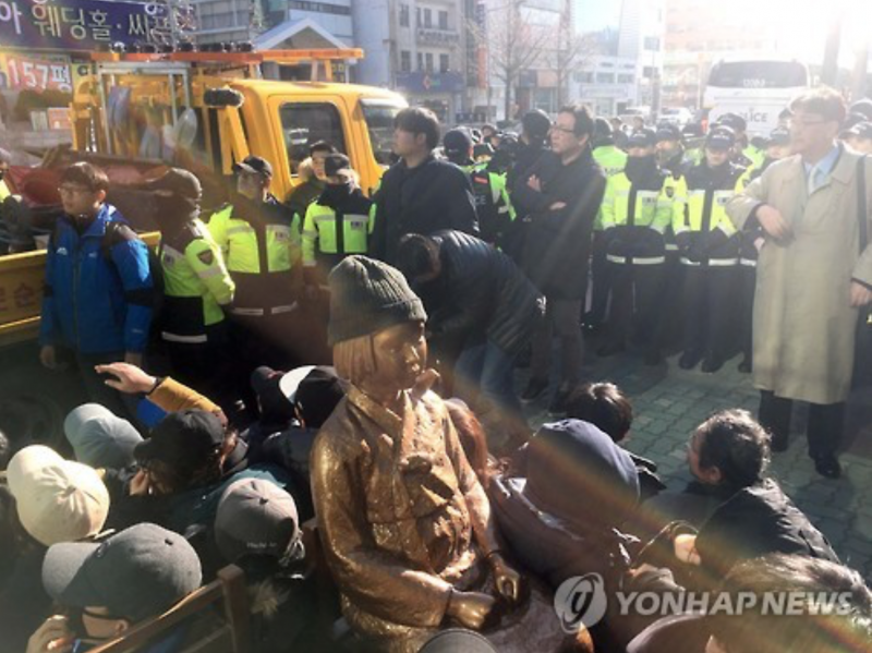 "Attempt to Install New ""Comfort Woman Statue"" Foiled"