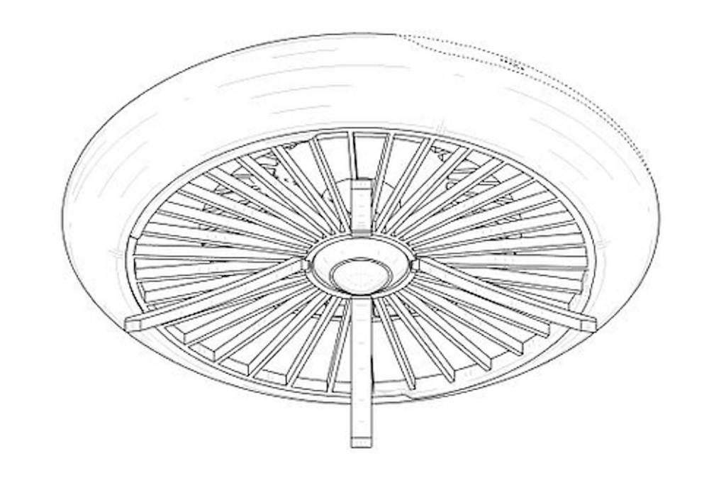 Samsung said the drone is designed to be equipped with a camera. Unlike conventional drone designs, the Samsung drone features a circular design with a fan in the middle. (image: KIPO)