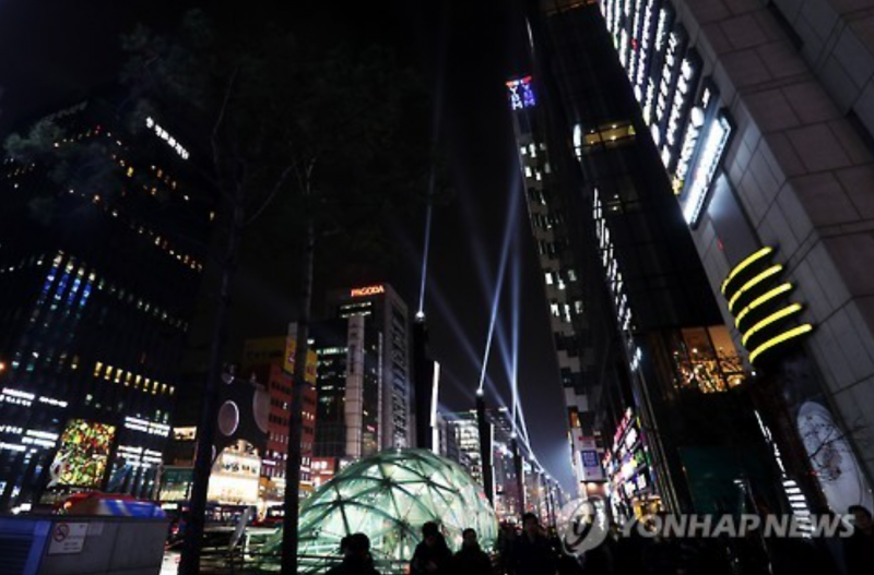 Laser Show a New Gangnam Attraction