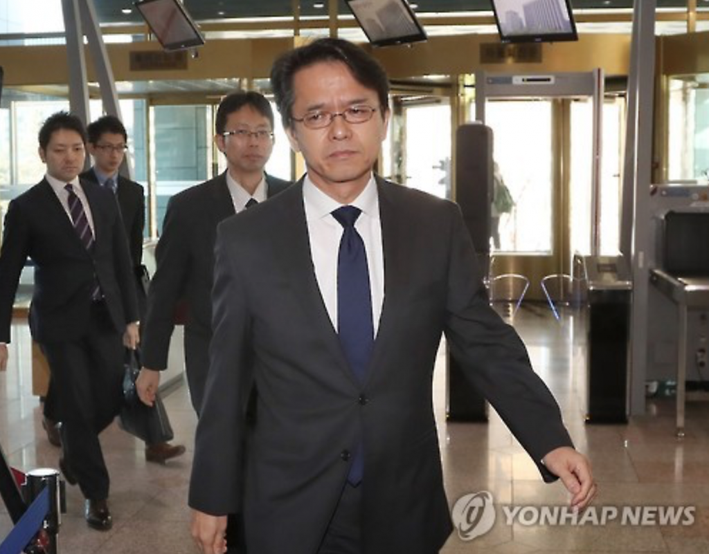 The director-general of the ministry's Northeast Asia Affairs Bureau, Chung Byung-won, officially lodged the protest with Kohei Maruyama, a minister at the Japanese Embassy in South Korea, who was summoned to the ministry headquarters earlier in the day. (image: Yonhap)