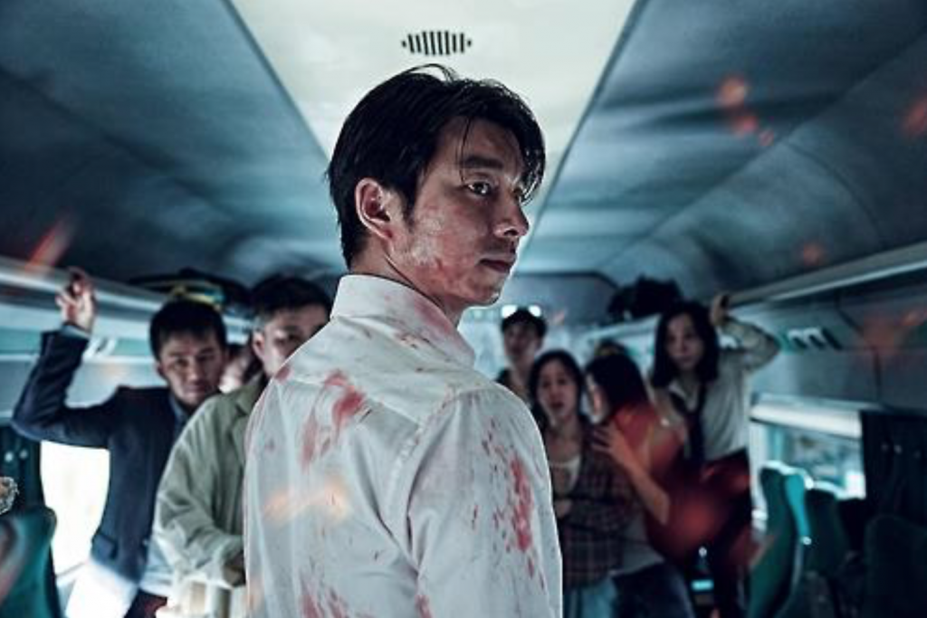 Directed by Yeon Sang-ho, the film depicts a group of passengers battling against an attack by people infected with a mysterious virus on a Busan-bound bullet train, which is no longer safe from the nationwide viral outbreak. (image: NEW)