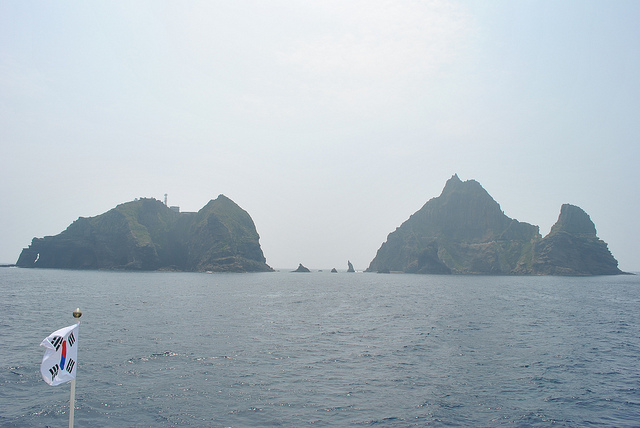 Dokdo, which lies closer to South Korea in the East Sea between the Korean Peninsula and Japan, has long been a source of tension between the neighbors. (image: Flickr/ Republic of Korea)