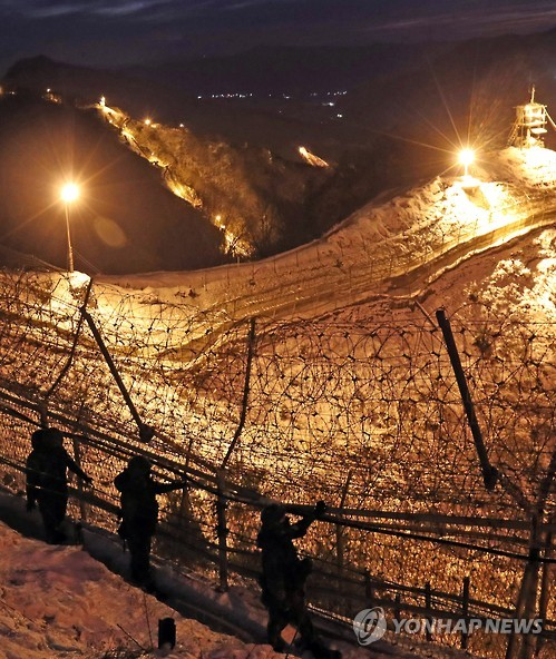 Last year, the military placed vigilance and detection equipment along the 249 kilometer-long (155 mile-long) barbed wire fence on the heavily fortified border with North Korea. (image: Yonhap)