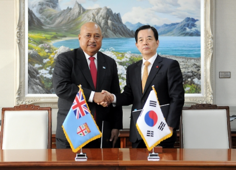 S. Korea, Fiji Agree to Boost Military Cooperation
