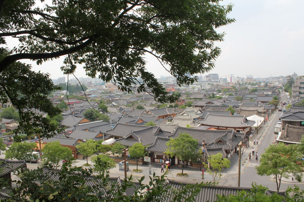 Jeonju Hanok Village.