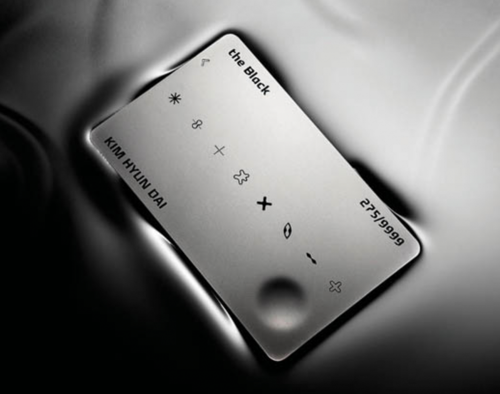 "Hyundai Card's ""The Black"" not only operates on an invitation-only basis, but those accepting the invitation are also evaluated by an eight-person deliberation committee that can only give final approval with a unanimous decision. (image: Hyundai Card)"