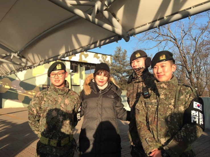Milla Jovovich Visits Korean Border