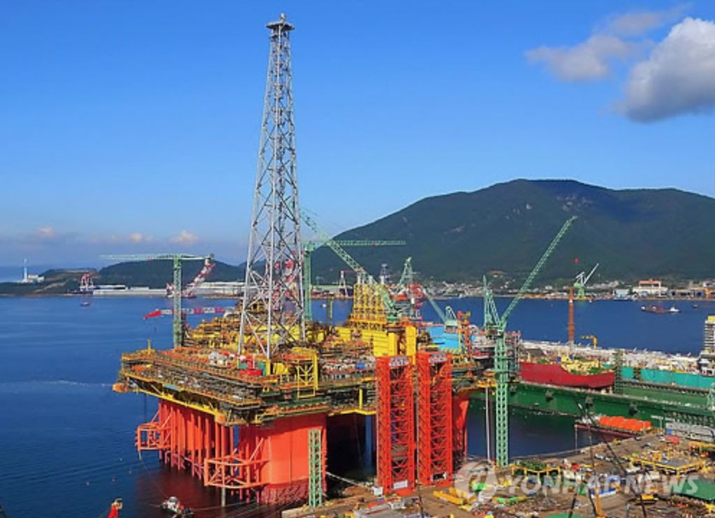 Samsung Heavy's floating production unit. (image: Yonhap)
