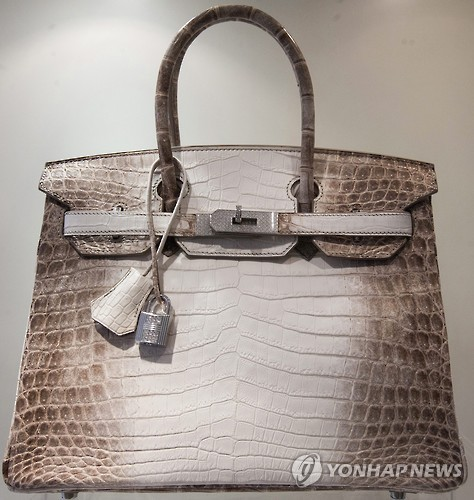 A Birkin bag is known for its rarity in South Korea, as well as its high price, being sold at around 15 million won (US$13,087), according to industry sources. (image: Yonhap)