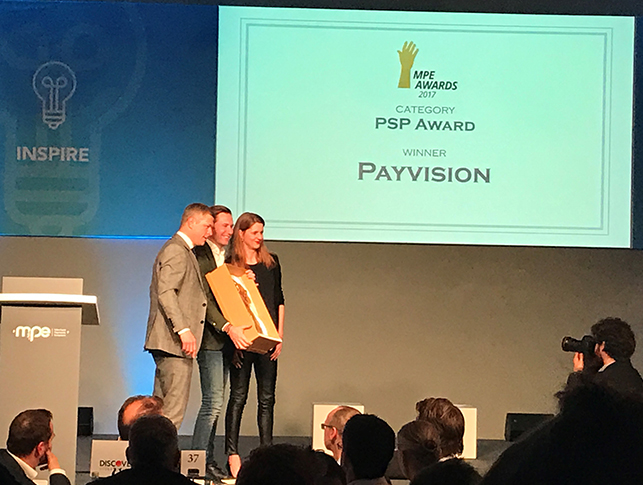 Payvision Wins the Best PSP Award at Merchant Payments Ecosystem 2017