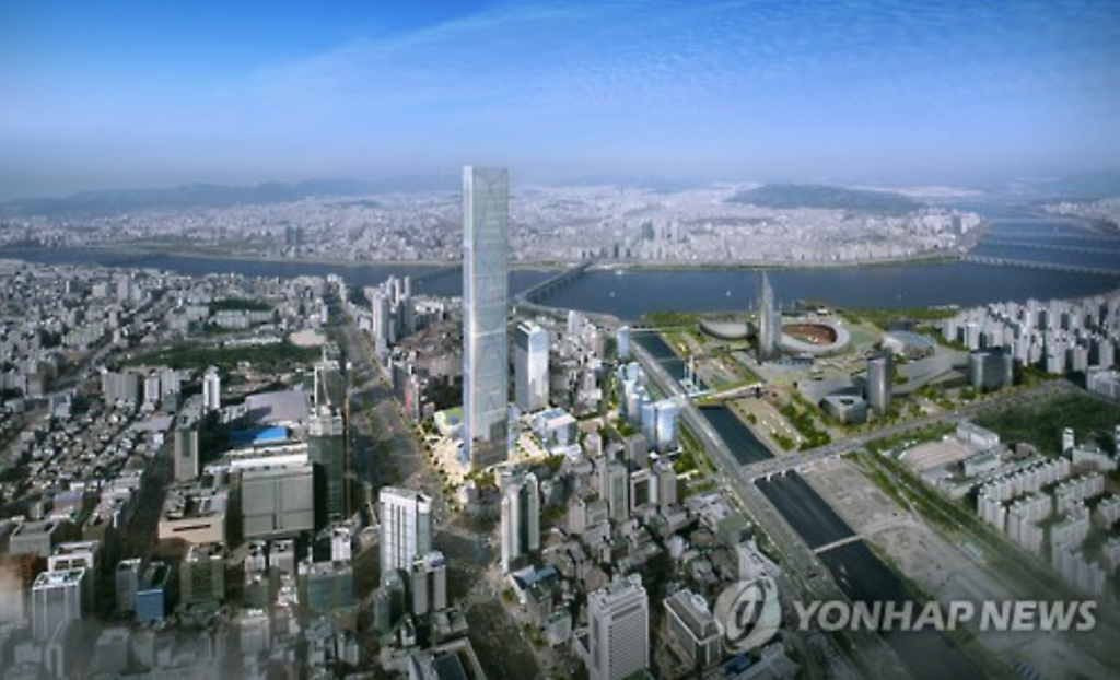 The building and the encompassing GBC area will host offices, hotels and shopping centers. (image: Yonhap)