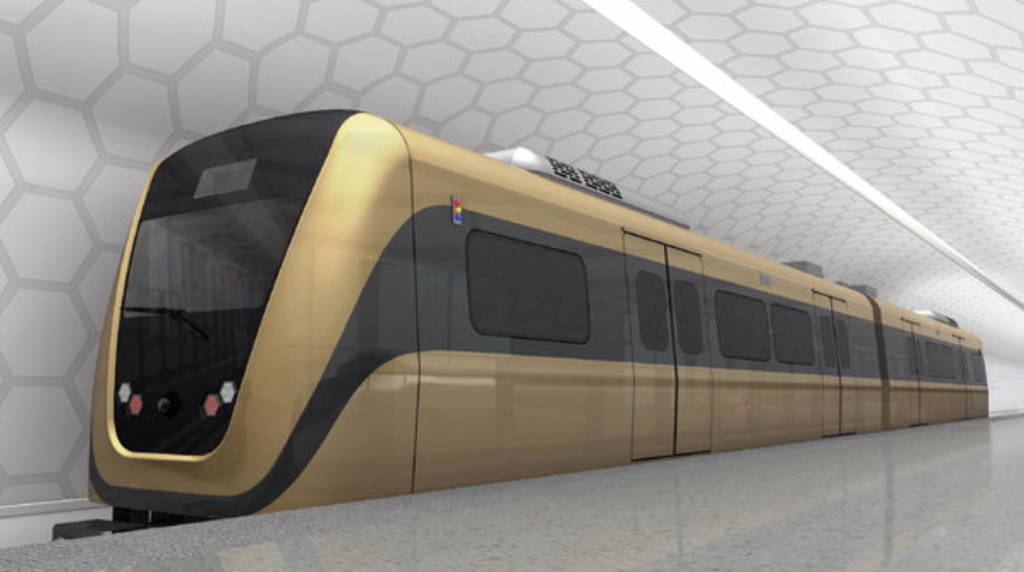 Concept image of Hyundai Rotem train that will be supplied to Jakarta's light metro by 2018.