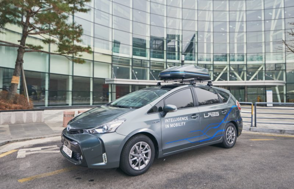 Naver Labs' self-driving car is a modified Toyota Prius. (image: Naver)