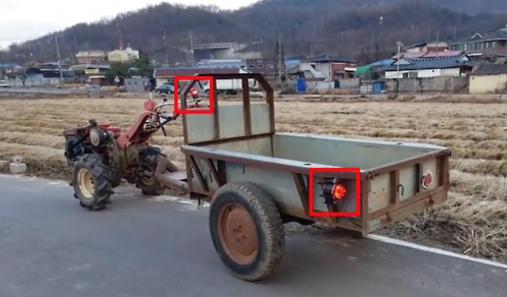 The company plans to equip farming machines such as tractors with sensors that alert the driver of road dangers, and help to prevent potential accidents. (image: Ministry of Science, ICT and Future Planning)