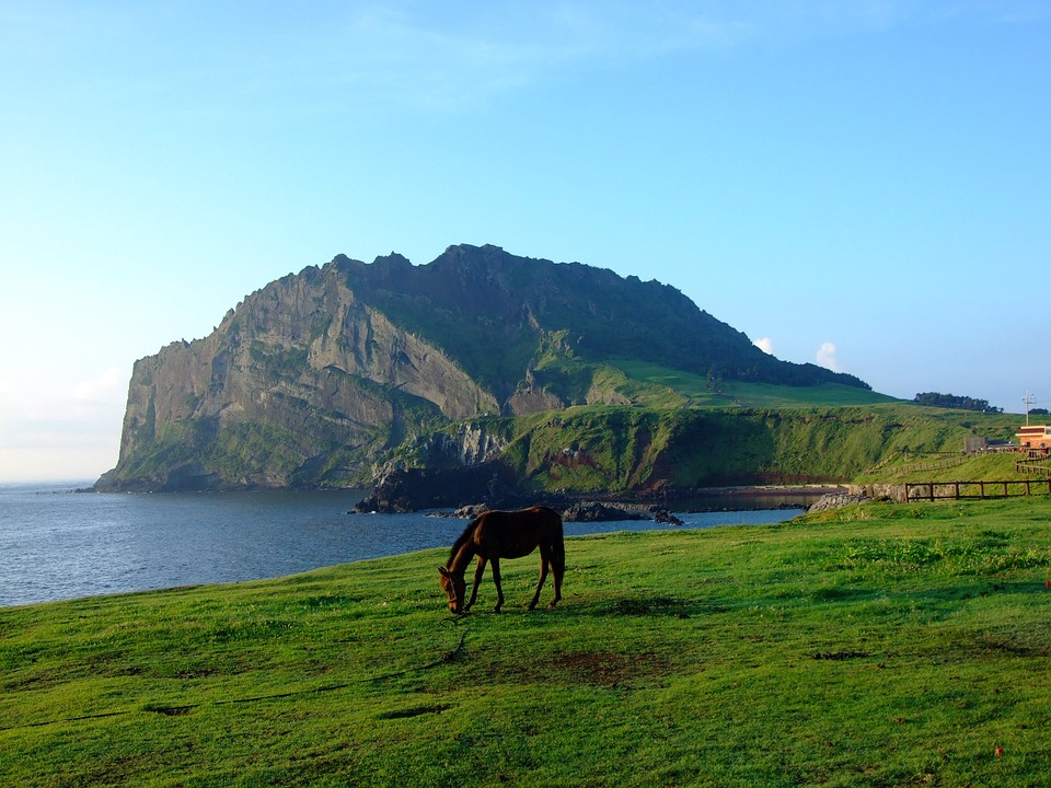 The number of South Korean tourists who flew into Jeju for the first eight days this month rose 13.5 percent to 218,709, compared with 192,725 during the same period last year. (Image shows Jeju island/Pixabay)