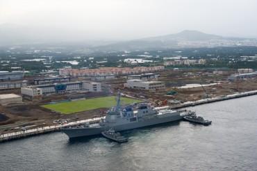 U.S. Aegis Destroyer Visits Jeju Naval Base for First Time
