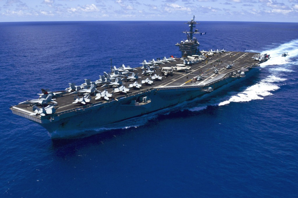 Recently, Nuclear-powered aircraft carrier the USS Carl Vinson has arrived in Busan, South Korea. (Image: Wikipedia)
