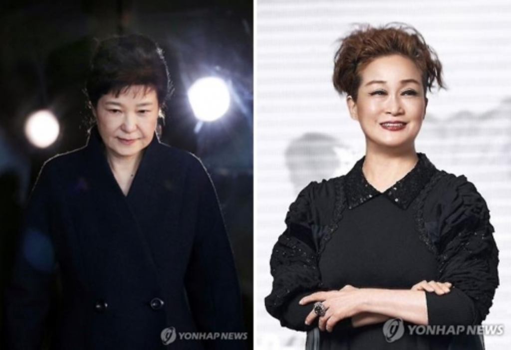 Cho told Sohn Kyung-shik, then-president of the Korea Chamber of Commerce & Industry and Lee's uncle, to oust Lee Mi-kyung (R) from the leadership, saying that it was the will of President Park (L). (image: Yonhap)