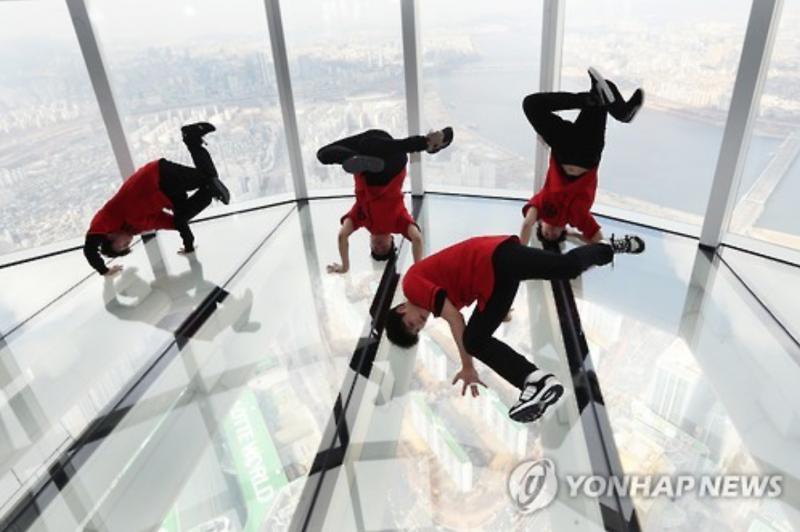 Breakdancing 480 Meters Up in the Air