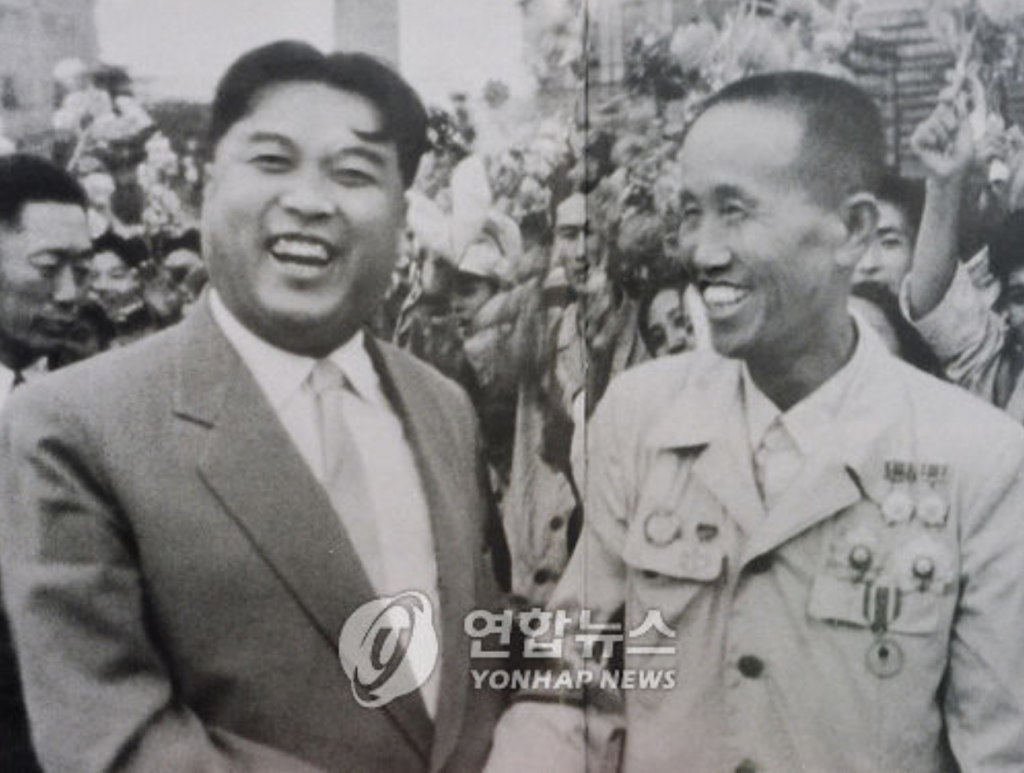 """Kim Il-sung is still young and there are no rumors of him being sick, but he's getting bigger by the day. Sources say he might even fall dead from being too fat."" (image: Yonhap)"
