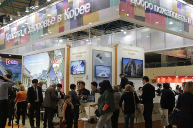 35 South Korean organizations attended the Moscow International Travel & Tourism Exhibition, an event that ends today. (Image: Yonhap)