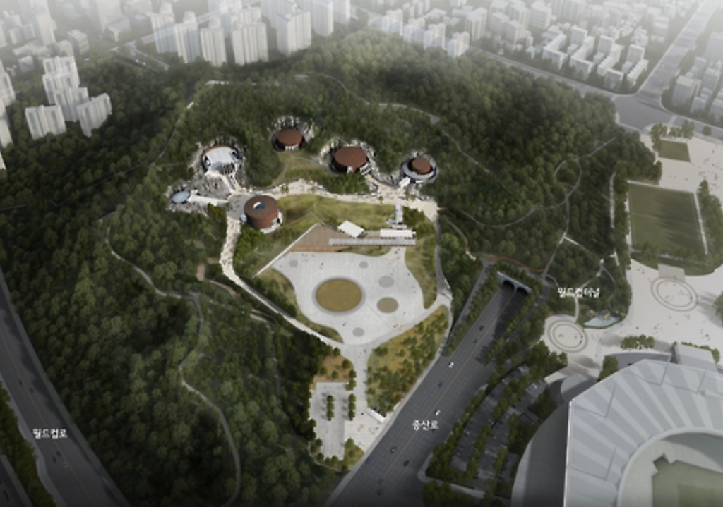 Former Mapo Oil Reserve Base will open during the first half of the year as a 140,000-square-meter park with exhibit halls and performance venues. (image: Yonhap)