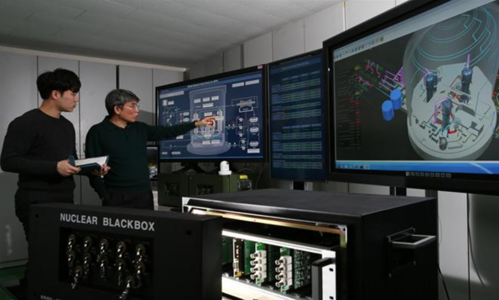 The control system, which is a mini-control center built inside a vehicle, can remotely monitor and administer eight reactors simultaneously. (image: Korea Atomic Energy Research Institute)