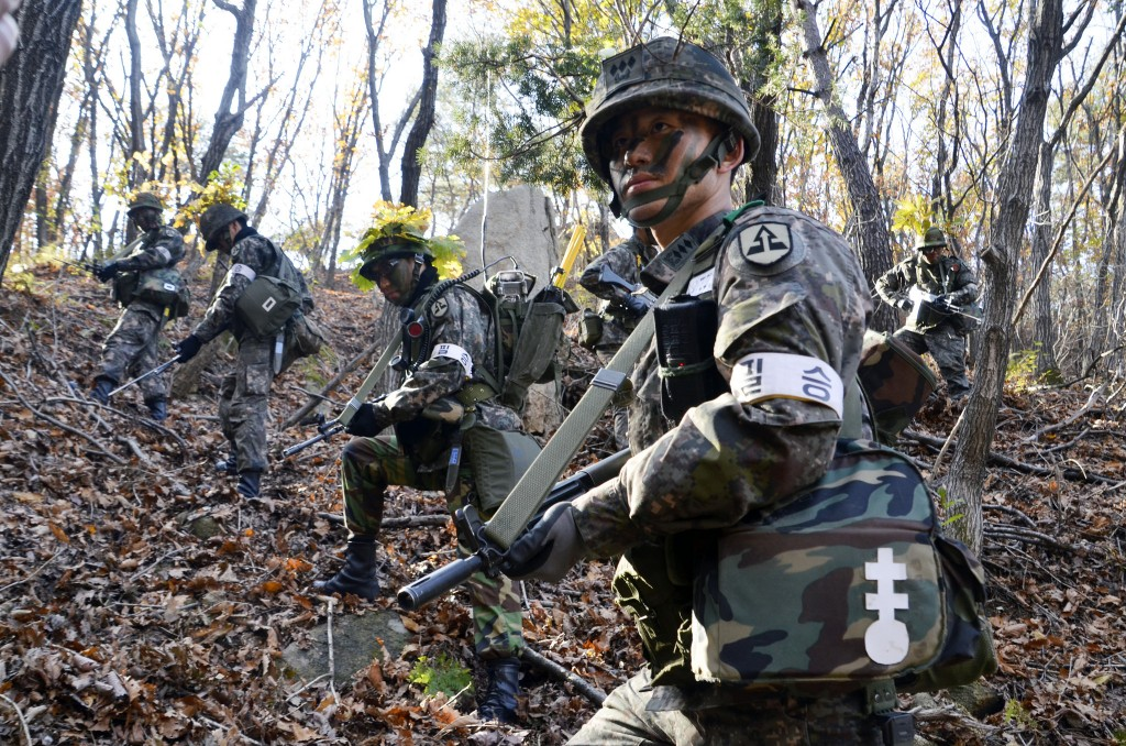 Under current South Korean military law, sexual intercourse between members of the same gender is defined as molestation, even with mutual consent. (Image: Republic of Korea Army 52th Infantry Division from Flickr)