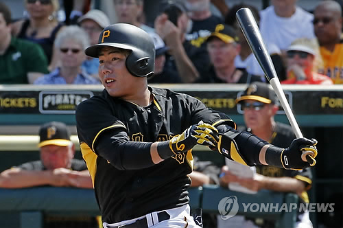 As the machine's striking capability draws attention, some sports analysts speculate the team's move to send Kang a pitching machine is a sign that shows how valuable a player he is to the Pittsburgh Pirates. (Image courtesy of Yonhap)