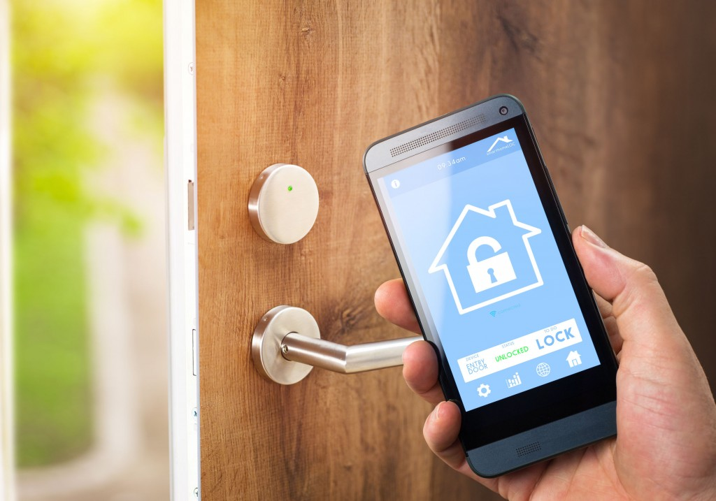 By integrating AI and IoT technologies with other features like speech recognition, home owners could soon enjoy the convenience of opening their front door from the kitchen, for instance, simply by speaking to the door lock system. (image: KobizMedia/ Korea Bizwire)