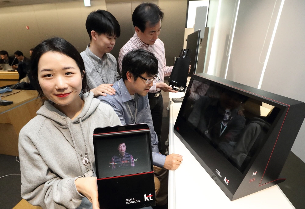 The next 5G network aims to offer data transmission speeds about 100 times faster than the current fourth-generation system. (image: KT)