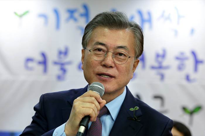 presidential candidate Moon Jae-in of the Democratic Party (image: Democratic Party)
