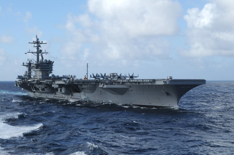 U.S. Sends Message to North Korea with Aircraft Carrier