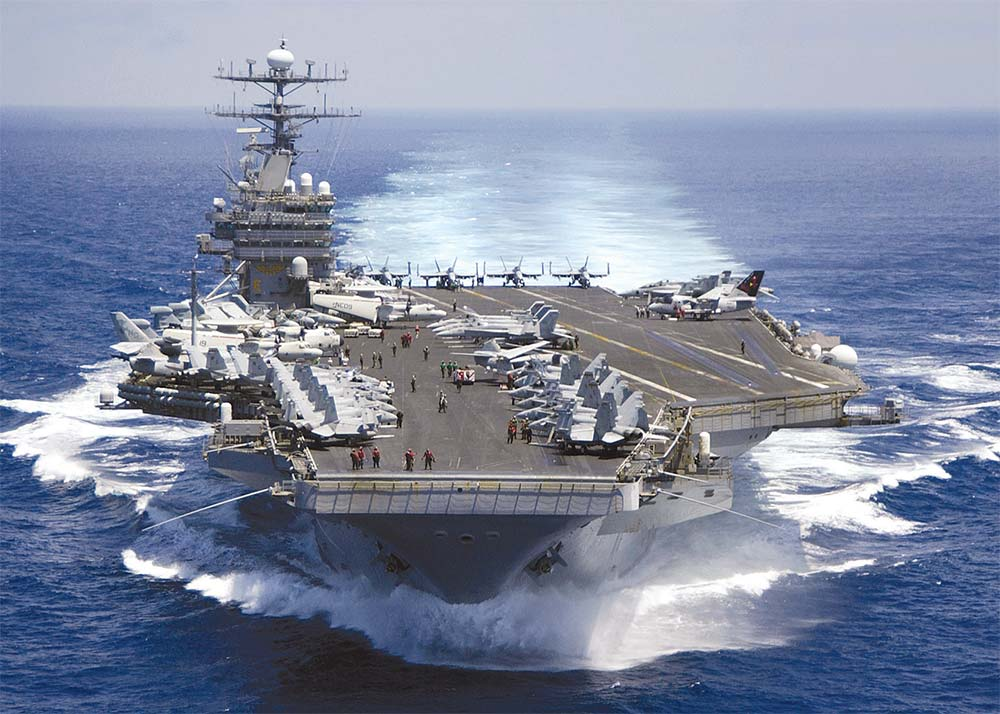 The USS Carl Vinson, a nuclear-powered aircraft carrier (image: Min. of National Defense)